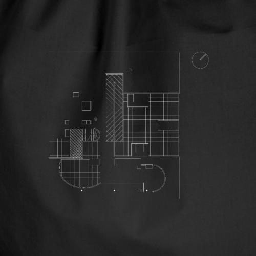 Archi_Plan - Drawstring Bag