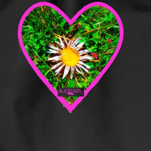 Blume Herz Jaegerbrot Herz Kat - Turnbeutel