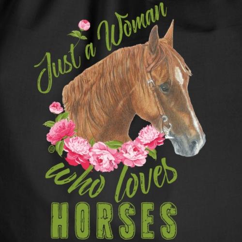 Just a woman Horse - Turnbeutel