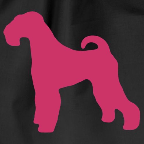 PINK Airedale Terrier - Drawstring Bag