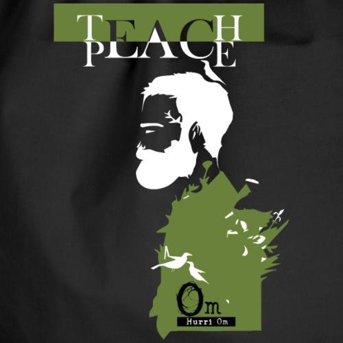 TEACH PEACE TSHIRT NERA - Sacca sportiva