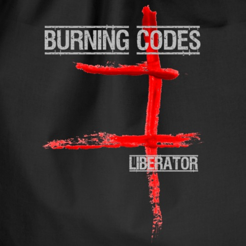Burning Codes Liberator logo - Drawstring Bag