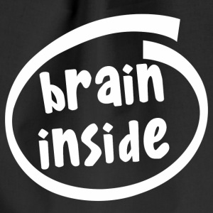 brain inside (1800B) - Drawstring Bag