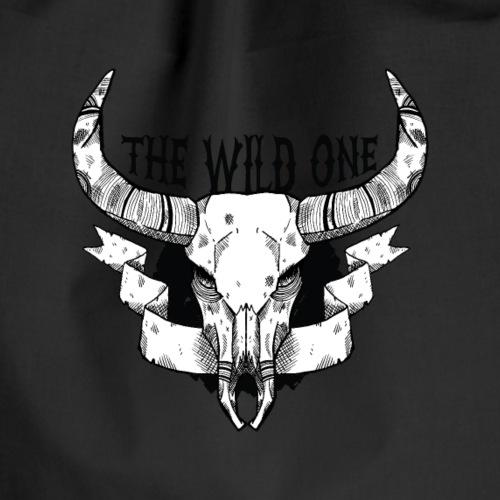 "Animal skull ""The Wild one"" - Drawstring Bag"