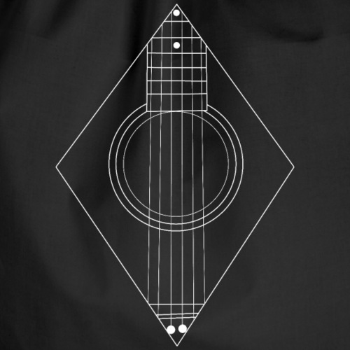 Acoustic guitar Minimalist - Drawstring Bag