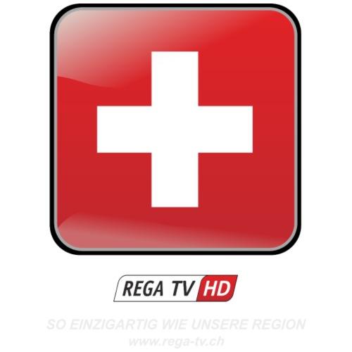 REGA-TV: Switzerland, weisse Schrift - Turnbeutel