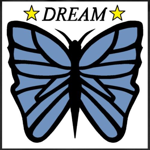 Fjäril, Dream Blå, vit, guld - Gymnastikpåse