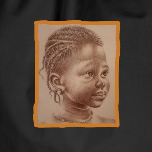 Mädchen Senegal schüchtern und natürlich - Turnbeutel