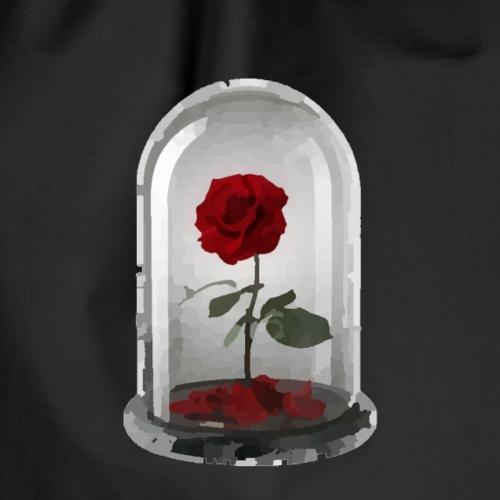 Frauen T-shirt rote Rose - Turnbeutel