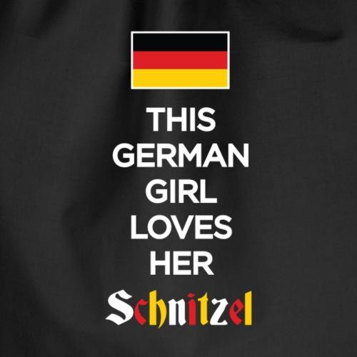 Girl loves her Schnitzel - Turnbeutel