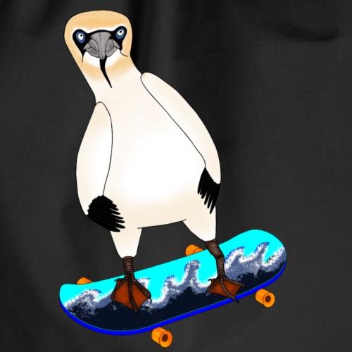 Skateboarding gannet - Drawstring Bag