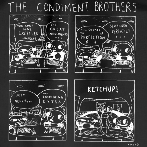 Condiment Brothers - Ketchup - White - Drawstring Bag