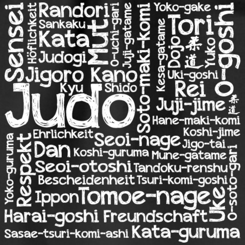 Judo Wortcollage white - Turnbeutel
