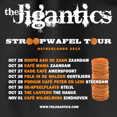 The Jigantics - Netherlands tour 2014 - Drawstring Bag