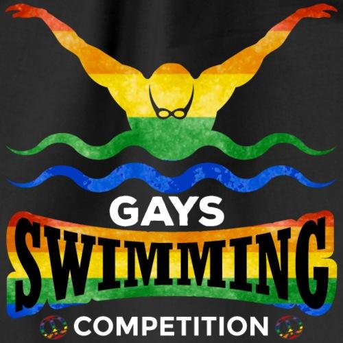 Gays swimming cometition - rainbow - Turnbeutel