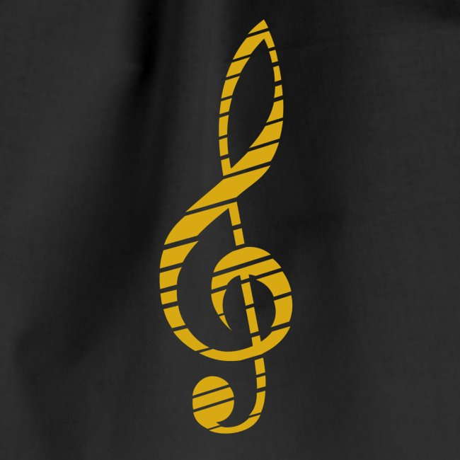 Goldenes Musik Schlüssel Symbol Chopped Up