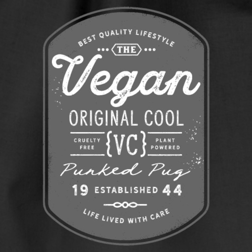 Vegan - The Original Cool Vintage Design - Drawstring Bag