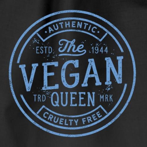 The Vegan Queen - Vintage Stamp Logo - Drawstring Bag