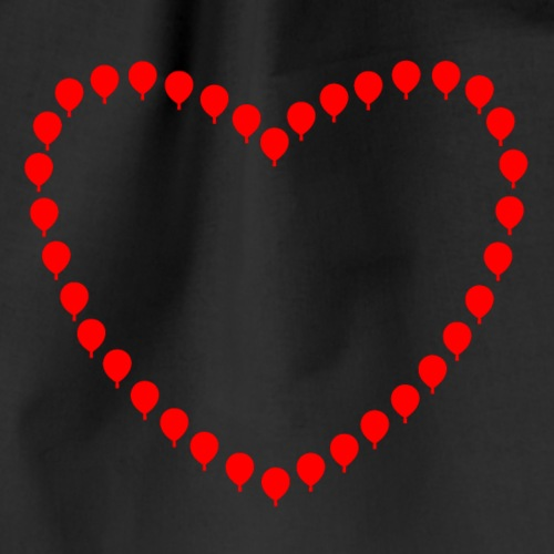 Herz aus Heißluftballonen - Drawstring Bag