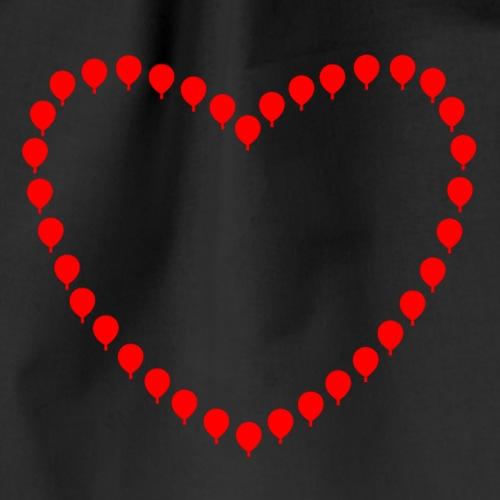 Herz aus Heißluftballonen - Turnbeutel