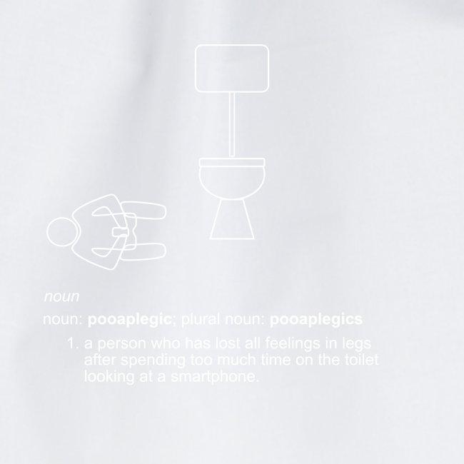 pooplegic smartphone white