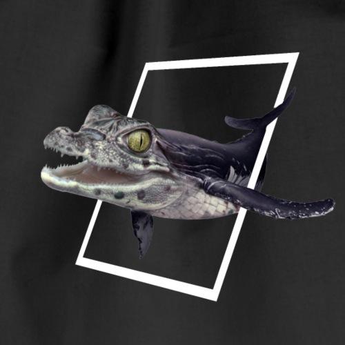 Crocowhale - Die Mischung aus Krokodil und Wal - Turnbeutel