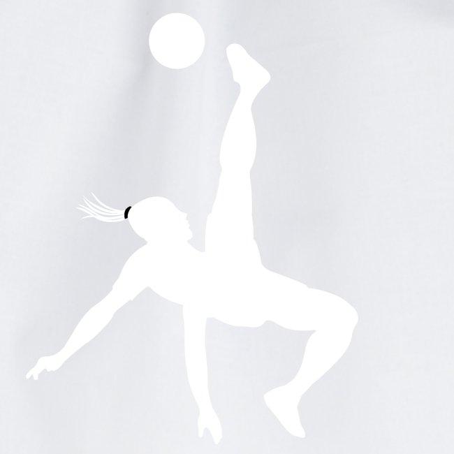 Voetbal omhaal vrouw