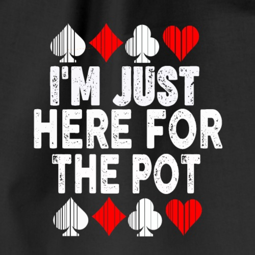 Poker,Pot,Tshirt,Glücksbringer - Turnbeutel
