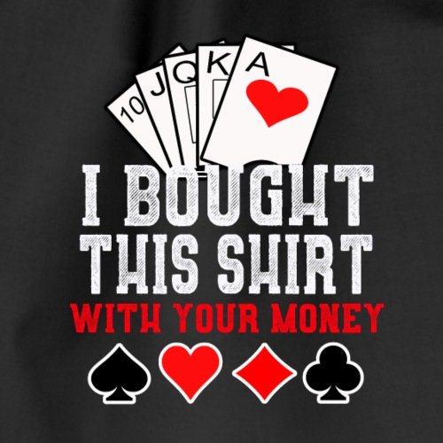 Poker,Geld,Shirt - Turnbeutel