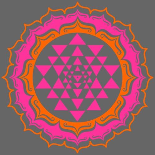 Sri Yantra - pink & orange - Sportstaske
