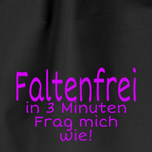 Faltenfrei in 3 Minuten - Turnbeutel