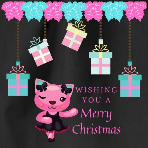 Weihnachtsshirt Kitty Style - Turnbeutel