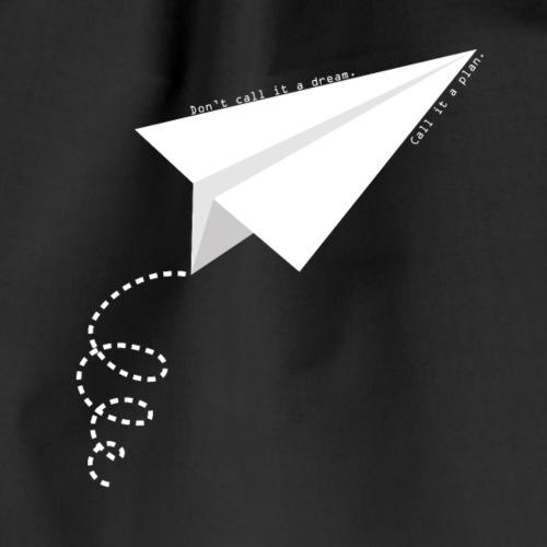 Paper plane - Sacca sportiva