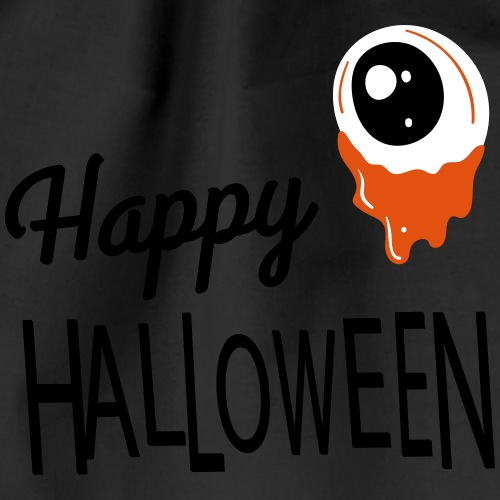 Happy Halloween eye - Drawstring Bag