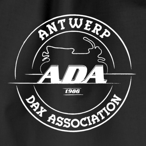 ADA DAX Logo Groot Wit - Gymtas