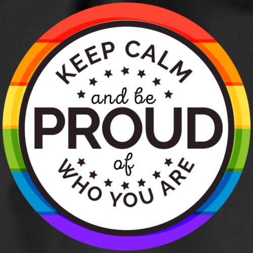 Keep Clam and be proud of who you are - Turnbeutel