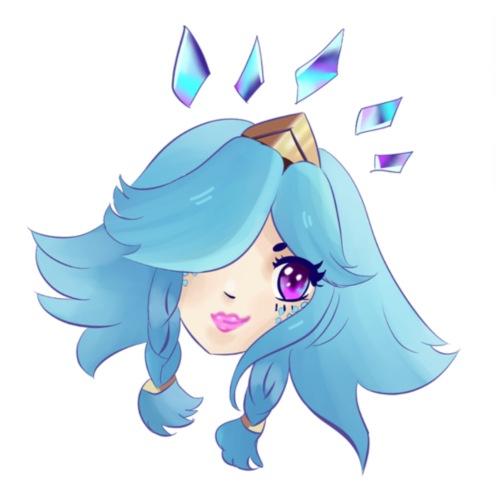 Fille au cheveux bleu - Sac de sport léger