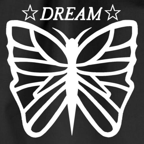 Dream butterfly motiv, black and white. - Gymnastikpåse