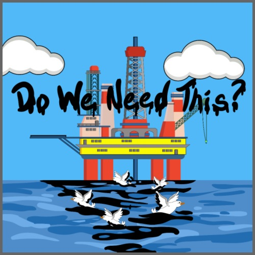 oil platform txt - Drawstring Bag
