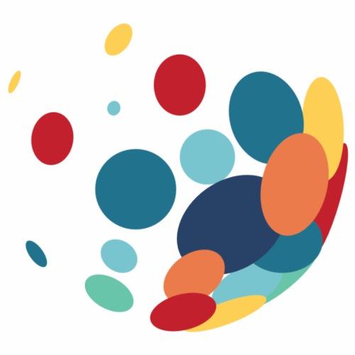 colourful circles - Drawstring Bag