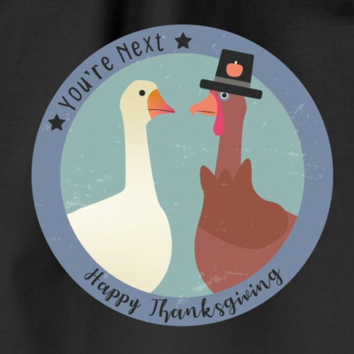 Truthahn und Gans an Thanksgiving - Turnbeutel