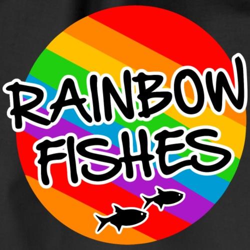 Rainbow fishes - rainbow flag and colors - Turnbeutel