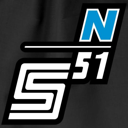 S51 N Logo - Turnbeutel