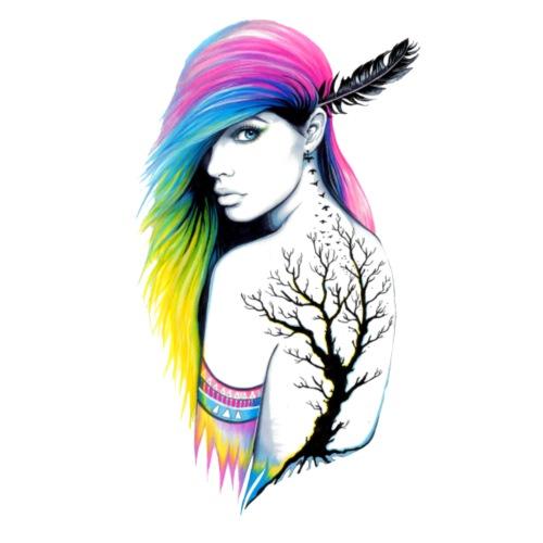 Chica con tattoo - Mochila saco