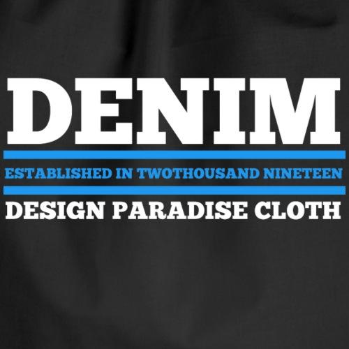 Denim Design Paradise (dunkel) - Turnbeutel