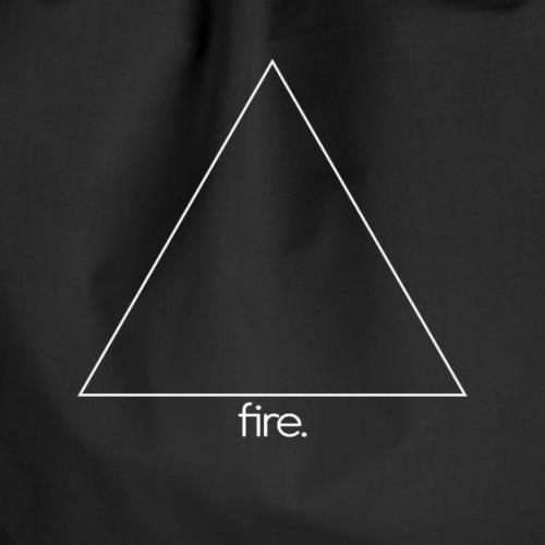 fire. (white) - Turnbeutel