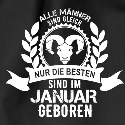 Geburtstag Januar Sternzeichen Steinbock T-Shirt - Turnbeutel