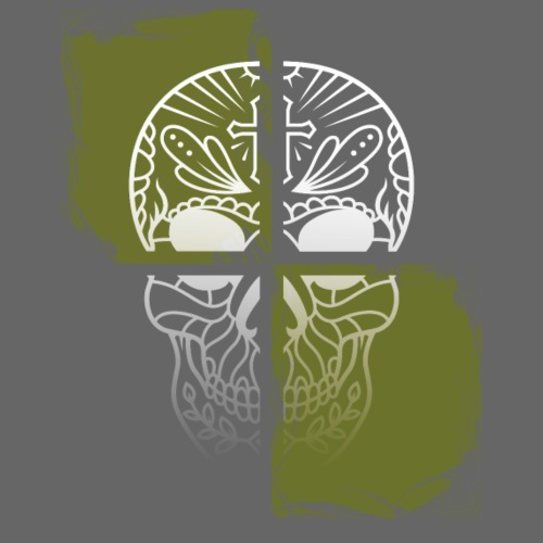 Skull Totenkopf Kreuz - Turnbeutel