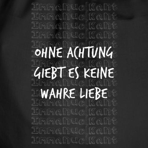 Liebe Immanuel Kant Zitat Spruch Geschenk Idee - Turnbeutel