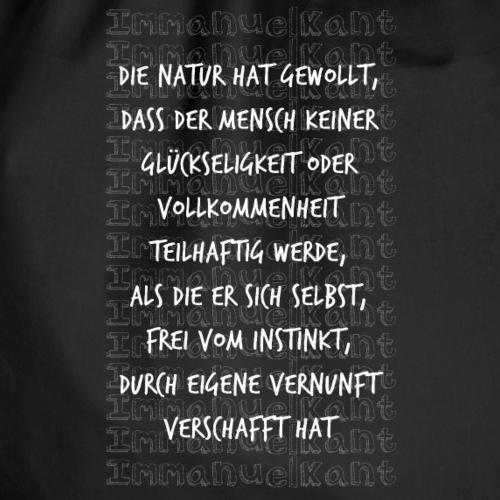 Glück Immanuel Kant Zitat Spruch Geschenk Idee - Turnbeutel